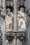 Standbeelden, de Kathedraal stock afbeeldingen