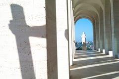 Standbeelden in EUR-kwart, Rome Italië royalty-vrije stock foto's