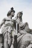 Standbeelden in Londen Stock Foto