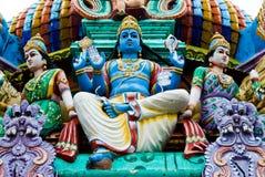 Standbeelden op een Hindoese tempel royalty-vrije stock foto's