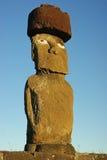 Standbeelden op Pasen eiland Stock Foto's