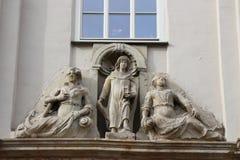 Standbeelden in Quedlinburg Stock Afbeeldingen