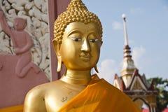 Standbeelden van Boedha in goud. Royalty-vrije Stock Fotografie