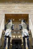 Standbeelden van de Egyptische God van Godsanubis- van het verdere leven royalty-vrije stock fotografie