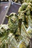 Standbeelden van decoratieve en fantasiecijfers royalty-vrije stock foto