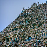 Standbeelden van deities in oude Kapaleeswarar-Tempel royalty-vrije stock afbeelding