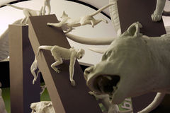 Standbeelden van Dieren in de Pan van het de Biodiversiteitspark van Parque Biodiversidad Royalty-vrije Stock Fotografie