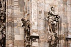 Standbeelden van Duomo Royalty-vrije Stock Afbeelding