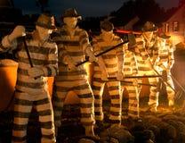 Standbeelden van Gevangenen St Augustine Florida Old Jail royalty-vrije stock foto's