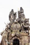 Standbeelden van Heiligen John van Matha, Felix van Valois, en Ivan stock fotografie