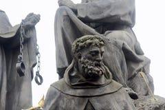 Standbeelden van Heiligen John van Matha, Felix van Valois, en Ivan royalty-vrije stock foto