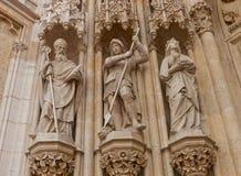 Standbeelden van heiligen van de kathedraal van Zagreb (XVIII c ) Kroatië stock foto