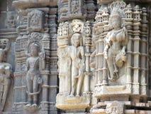 Standbeelden van Hindoese god Stock Afbeelding