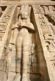 Standbeelden van Nefertari als godin Hathor Royalty-vrije Stock Foto's