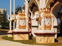 Standbeelden van olifanten, de Troef Taj Mahal Casino Resort stock afbeelding