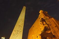 Standbeelden van Ramses II bij Tempel Luxor. Luxor, Egypte Stock Afbeelding