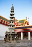 Standbeelden in Wat Phra Kaew. Royalty-vrije Stock Afbeelding