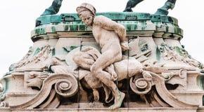 Standbeeldprins Eugene van Savoye Buda Castle royalty-vrije stock fotografie