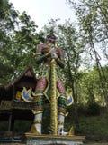Standbeeldrelition in tempelstijl Thailand Royalty-vrije Stock Afbeeldingen