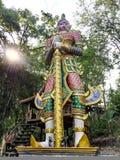 Standbeeldrelition in tempelstijl Thailand Royalty-vrije Stock Fotografie
