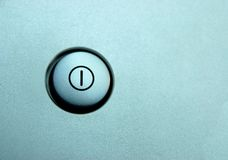 Standby. Closeup of silver standby button Royalty Free Stock Images