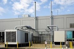 Standby generators Royalty Free Stock Photo