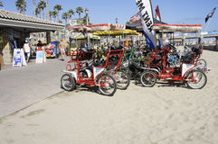 A Standby Pedicabs. These Pedicabs is for rent $20.00 per hour, in a standby position Royalty Free Stock Photo