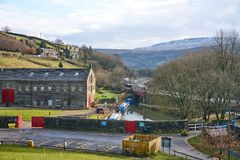 Standedge Tunnel Visitor Centre, Canal and Railway Royalty Free Stock Photos
