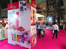 Standee at expo. Venue- Professional Beauty Expo,Mumbai Date - 6th Oct 2015 royalty free stock images