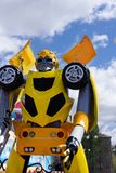 Standee of Movie Bumblebee displays at the theater stock photo