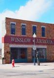 Standin sull'angolo, Winslow, Arizona Immagine Stock