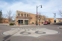 Standinen 'på hörnet parkerar i Winslow, AZ arkivfoton