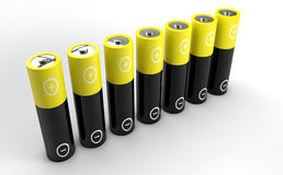 Standing AA batteries Royalty Free Stock Image