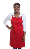 Standing african american waitress Stock Photography