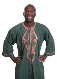 Standing african man with traditional clothes Stock Photo