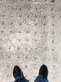 Standing on a Roman floor. Standing on an ancient Roman floor royalty free stock images