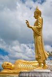 Standing And Reclining Buddha Statue, Thailand Stock Photo