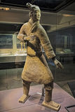 Standing Archer unearthed in Pit 2, Terracotta Army Xian China Royalty Free Stock Images