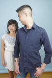 Standing Asian couple Royalty Free Stock Photo