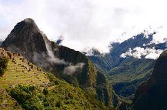 Machu Pichu. Standing atop machu pichu stock image