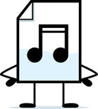 Standing Audio File. A cartoon illustration of an audio file standing Stock Photo