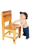 Standing baby Royalty Free Stock Images