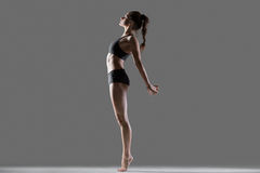 Standing backbend exercise Royalty Free Stock Images