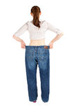 Standing backwards weight loss woman Stock Photography