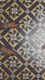 Standing on beautiful peranakan house tiles and mosaic royalty free stock image