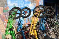 Standing Bicycles Royalty Free Stock Photo