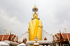 Standing Big Buddha image. In wat intharawihan bangkok Royalty Free Stock Photo