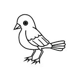 Standing Bird Outline Royalty Free Stock Images