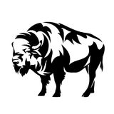 Standing bison side view vector design Stock Photography