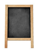 Standing blackboard for your offer or menu isolated Stock Images